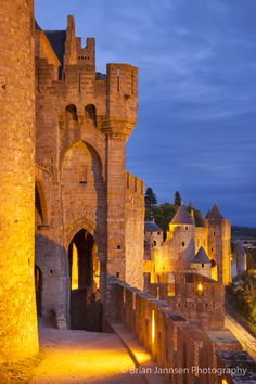 Medieval town of Carcassonne ~ Languedoc-Roussillon, France. © Brian Jannsen Photography