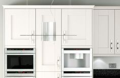 Shaker Classic Ivory Tall Cabinets