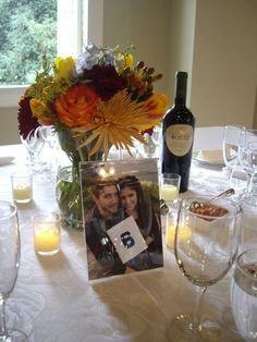Table settings with Picture Table Numbers