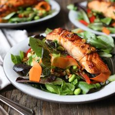 This salmon salad tastes like I want to feel on a daily basis: light, bright, and just a little bit spicy. (And it's ready in 30 mins!)