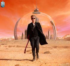 Peter Capaldi (Le Docteur). Il a trop la classe sur cette photo !