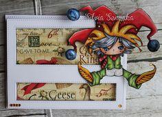 My Craft Diary: Christmas Spinner Card