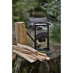 Kindling Cracker Firewood Kindling Splitter Eases The Pain Of Chopping Wood Kindling Splitter, Log Splitter, Firewood Rack, Firewood Storage, Metal Projects, Metal Crafts, Welding Projects, Rocket Stoves, Outdoor Chairs