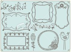 cute elements set Royalty Free Stock Vector Art Illustration