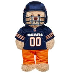 Dress your furry friend in a berry special Chocolate Covered Strawberry Costume! Find stuffed animals, clothing & accessories for any occasion at Build-A-Bear. Chicago Football, Bears Football, Flag Football, Chicago Bears, Chicago Wallpaper, Funny Nfl, Nfl Uniforms, Custom Teddy Bear, Sports Wallpapers
