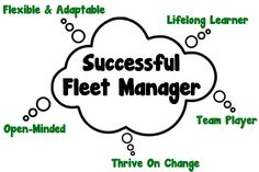 What makes a fleet manager succeed: http://www.gofleet.com/skills-of-a-fleet-manager-career-longevity/