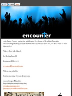 Check out this Mad Mimi newsletter...Encountering the Kingdom...