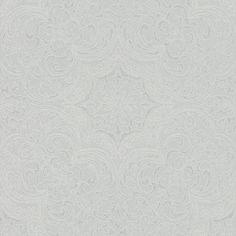 Imara Porcelain by Prestigious - Blue / White - Wallpaper : Wallpaper Direct Old Wallpaper, Wallpaper Decor, White Wallpaper, Pattern Wallpaper, Zebra Striped Wallpaper, Crypton Fabric, Plastic Folding Chairs, Concept Home, Damask