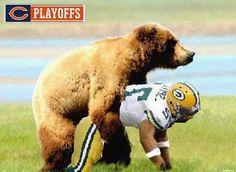 Saints gets take over over by a bear Bears Football, Bears Packers, Nfl Bears, Football Jokes, Vikings Football, Dallas Cowboys Football, Nfl Jokes, Minnesota Vikings, Football Team