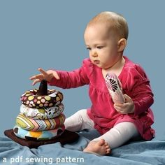 Ring Stacker Soft Toy a pdf sewing pattern free by patternplay