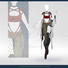 (OPEN) Adoptable Outfit Auction 250 by JawitReen.deviantart.com on @DeviantArt