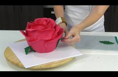 She Made This Entire Cake In The Shape Of A Rose. The Crazy Part? Just Wait Until She Slices It
