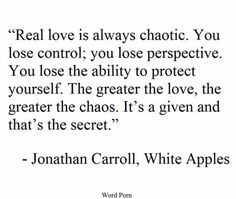 Jonathan Caroll - real love