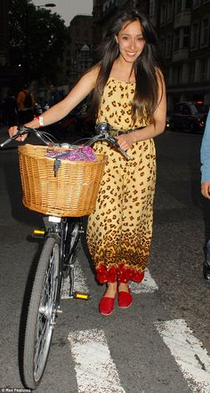 So who needs Lycra and hi-viz to ride a bike? Oona Chaplin shows you can be stylish too!