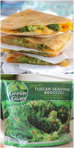 Tuscan Broccoli and Cheese Quesadilla! Quick and easy weeknight dinner!