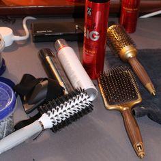 Olivia Garden #hairbrushes during Erin Fetherston #NYFW show. #OliviaGarden #BeautyTools #NanoThermic #CeramicIon