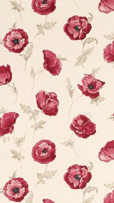 Freshford Floral Red Wallpaper by Laura Ashley Red Wallpaper, Flower Wallpaper, Pattern Wallpaper, Wallpaper Backgrounds, Screen Wallpaper, Glitter Wallpaper, Iphone Backgrounds, Wallpaper Ideas, Motif Floral