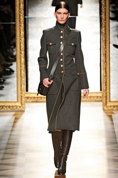 I think every woman will feel empowered in a coat like this - Salvatore Ferragamo, Milan