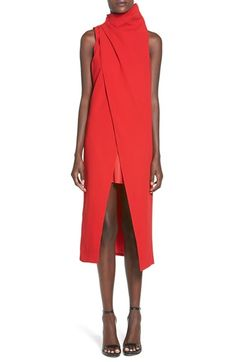 C/MEO Collective C/MEO 'Fading Hearts' Wrap Front Layer Dress available at #Nordstrom
