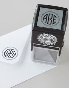 Personalized monogramed stamp