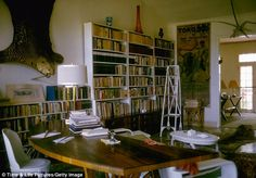 Writing den: The house in Cuba has been lovingly restored to how it was when Hemingway lived there between 1939 - 1960