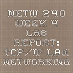 netw240 week 2 lab Netw 204 week 2 lab report configure vlans and trunks and configure and verify switch port security features introduction: discuss what you will do in this lab provide some background information on the main idea in this lab and discuss the purpose of the lab activity.