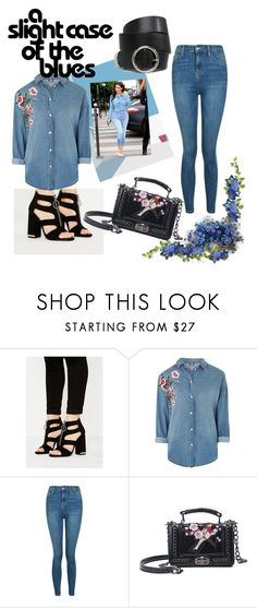 """""""Double denim"""" by visualist-101 ❤ liked on Polyvore featuring Missguided, Kerr®, Topshop and ASOS"""