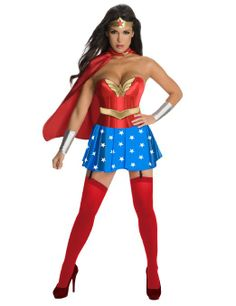 Amazon.com: DC Comics Secret Wishes Wonder Woman Corset Costume: Clothing