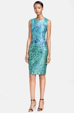 I NEED THIS!!    Max Mara 'Morris' Sleeveless Jacquard Dress available at #Nordstrom