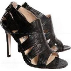 Jimmy Choo Shoes North Sandals Patented Leather Black ,$192