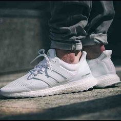 adidas ultra boost all white on feet adidas shoes for kids high tops