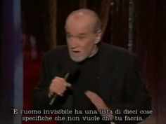 George Carlin about religion! «But he loves you!»