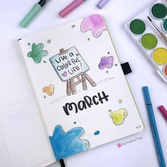 March 2019 - Set up Bullet Journal March 2019 - Bul . - March 2019 – Set up the Bullet Journal March 2019 – Set up the Bullet Jo - Bullet Journal School, Bullet Journal December, March Bullet Journal, Bullet Journal Cover Page, Bullet Journal Notebook, Bullet Journal Spread, Bullet Journals, Bullet Journal Designs, Bullet Journal Aesthetic