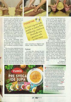 Tekst o kraljevskoj masaži u časopisu Bilje i Zdravlje 2