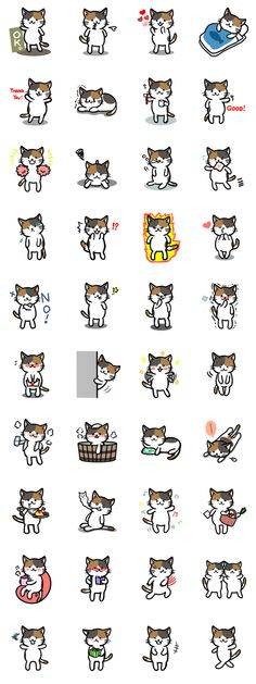 Cats Stickers Collage full 4x10