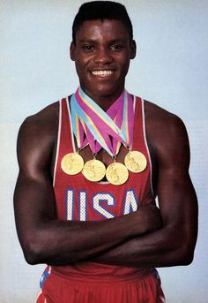 Track and Field Great Carl Lewis (1984) - one of the best U.S. Olympic track greats. Truly astonishing, his performances!!!!