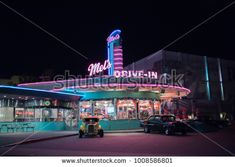 Orlando, Florida: November 30, 2017: Mel'  s Drive-In Theater at Universal Studios Florida.