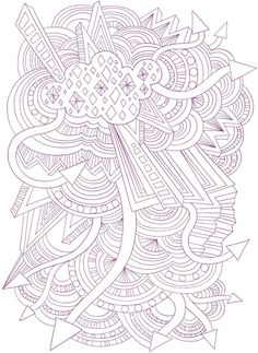 Abstract Doodle Coloring pages colouring adult detailed advanced printable Kleuren voor volwassenen Welcome to Dover Publications