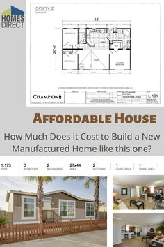 You can buy a better manufactured Home with 3 bedrooms Yosemite 4443B Model YO4443B for $73,900 Cheap Mobile Homes, Mobile Homes For Sale, Cost To Build, Affordable Housing, Modular Homes, Square Feet, Living Area, Bedrooms, Floor Plans