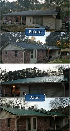 A new metal roof not only improves the look of your home's exterior, but it improves energy efficiency as well!
