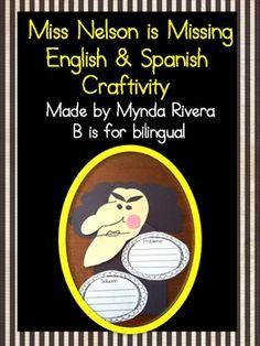 Miss Nelson is Missing English & Spanish Craftivity