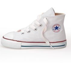 Converse All Star Core Hi Toddler Infant Trainers White (105 BRL) ❤ liked on Polyvore featuring shoes