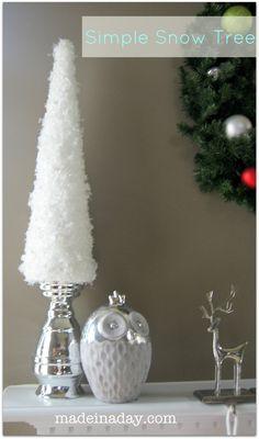 DIY- Simple Snow Tree