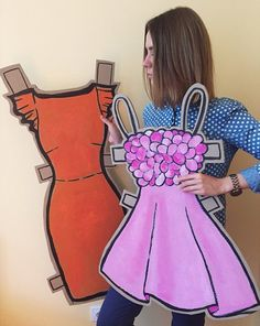 Cardboard dresses