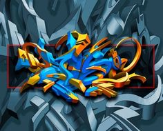 Digital Graffiti is cool Letras Graffiti 3d, Graffiti Writing, Font Art, Wildstyle, Hip Hop Art, Graffiti Styles, Airbrush Art, Street Art Graffiti, Skull Art