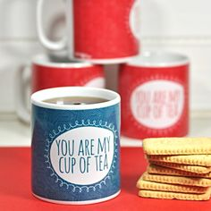 Sometimes I drink hot tea:) Adorable mug.