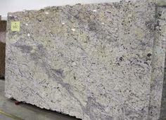 Large slab of white ice granite