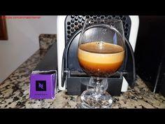 (English) Nespresso Arpeggio gourmet coffee capsules on Krups (& Delonghi) Inissia machine & Reveal Espresso Intense cup. _ (Português) Cápsulas de café gourmet Nespresso Arpeggio numa máquina Krups (& Delonghi) Inissia & copo Reveal Espresso Intense. _ (Français) Capsules de café gourmet Nespresso Arpeggio dans une machine Krups (& Delonghi) Inissia & coupe Reveal Espresso Intense.