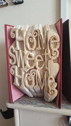 home sweet home book folding bookfold pattern