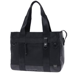 Porter Heat Tote Bag. Ref : 703-0696. Size:W410/H320/D110. Color : Black. Main Fabric: Ballistic Nylon Canvas ( Nylon 100 %). Bottom of the bag : Tarpouline Lining Fabric: Nylon Canvas ( Nylon 100% ). Additional: Each bag comes with a porter orifinal Maglight as a zip puller.